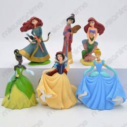 Lote 6 figuras Princesas...