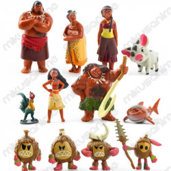 Set 12 muñecos 5-8cm Vaiana