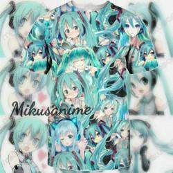 Camiseta Hatsune Miku 3D S-6XL