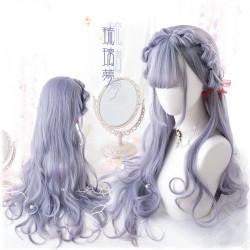 Peluca gris kawaii estilo...