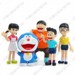 Set 5 figuras Doraemon