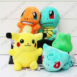 Set 4 peluches Pokémon
