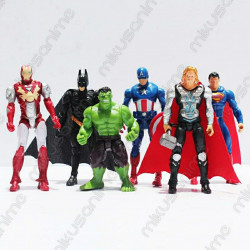 Set 6 figuras marvel