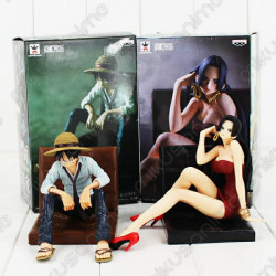 Set figura Luffy y Boa...