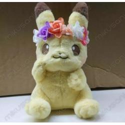 Peluche Pikachu flores -...
