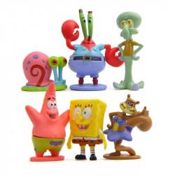 Set 6 muñecos Bob Esponja